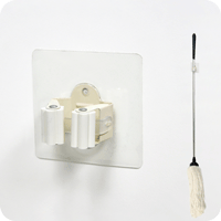 adhesive broom clip holder